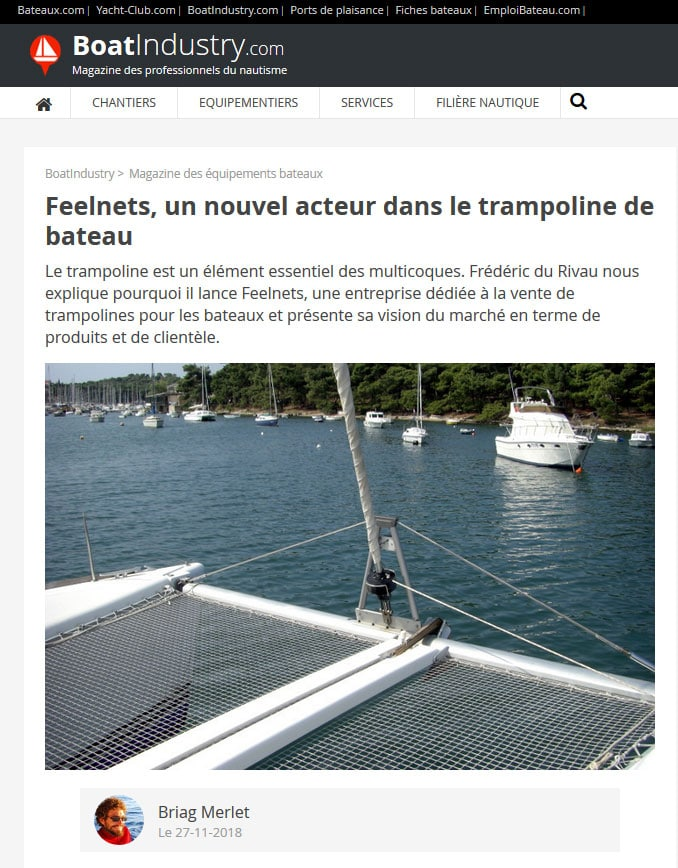 article de presse Feelnets filet trampoline