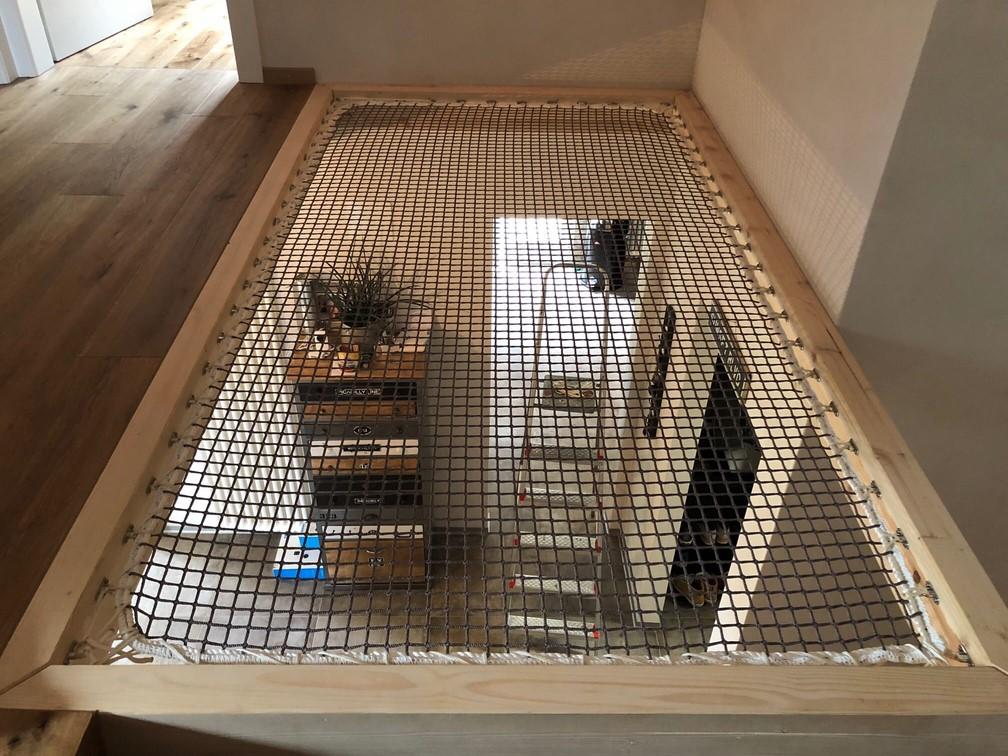réalisation filet habitation cadre bois