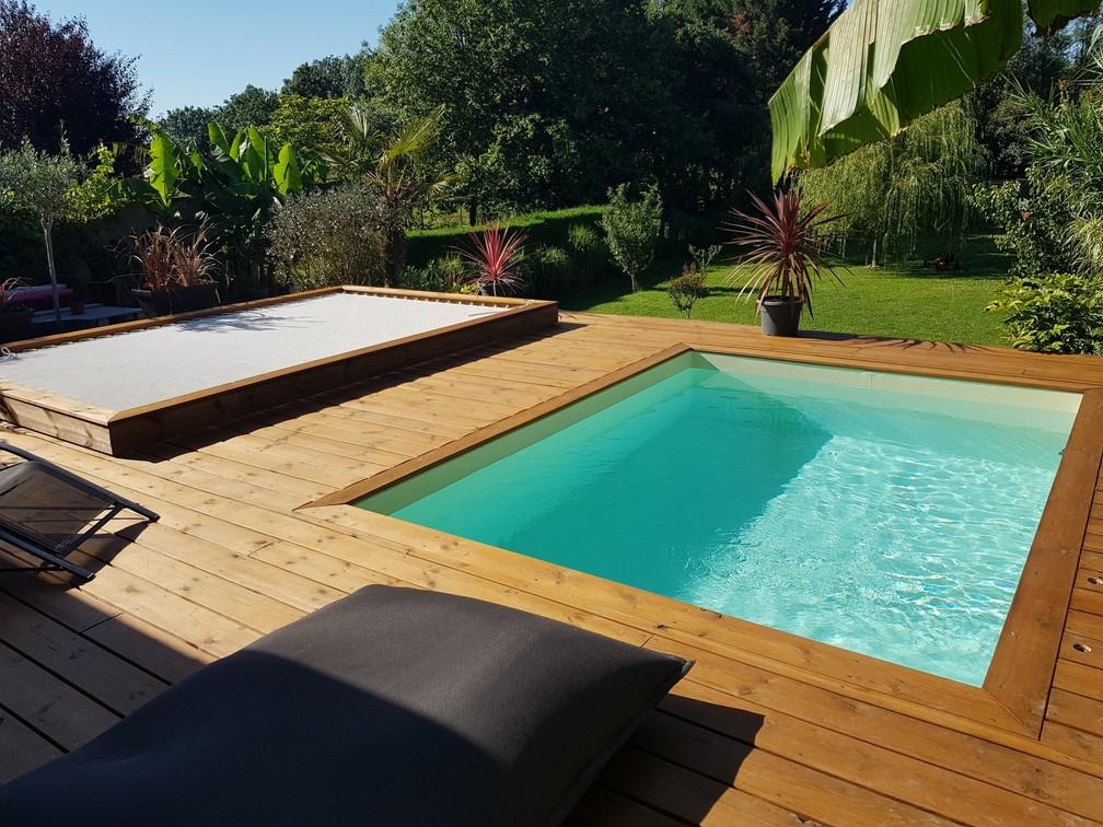 filet extérieur avec piscine